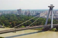 bratislava most obraz stock