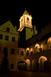 Bratislava na noite fotografia de stock