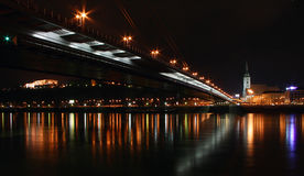 Bratislava nachts Stockfotos
