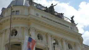 Bratislava National Theater Frontispiece stock video