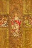 Bratislava - Needelworken av Jesus Christ med änglarna på den katolska vestmenten från 19 cent i den St Martins domkyrkan Royaltyfria Foton