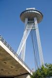 Bratislava - nieuwe brug Royalty-vrije Stock Afbeelding