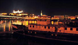 Bratislava at night Royalty Free Stock Photos