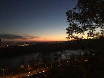 Bratislava night sky Royalty Free Stock Image