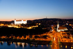Bratislava at night Royalty Free Stock Photography