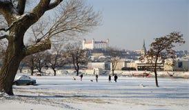 Bratislava no inverno fotos de stock