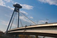 Bratislava - nuovo ponticello Fotografia Stock Libera da Diritti