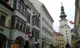 Bratislava. Old Town. Bratislava. Church tower Royalty Free Stock Image