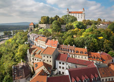 Bratislava - outlook form st. Martins cathedral to the castle Royalty Free Stock Image