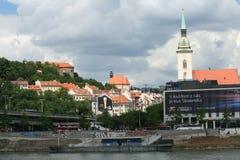 Bratislava over Danube Royalty Free Stock Photo