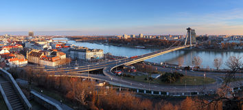 Bratislava panorama from castle Stock Photo