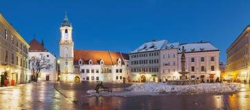 Bratislava Panorama - Main Square Royalty Free Stock Image