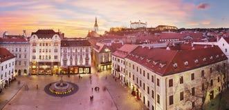 Bratislava Panorama - Main Square Stock Photos