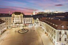 Bratislava Panorama - Main Square Royalty Free Stock Photos