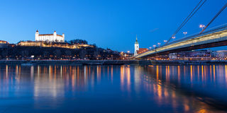 Bratislava panorama royalty free stock photo
