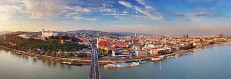 Bratislava panorama - Slovakia Stock Photography