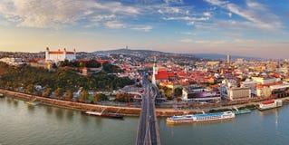 Bratislava panorama - Slovakia Royalty Free Stock Image