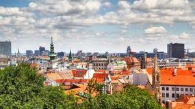 Bratislava. Panoramic view of Bratislava, Slovakia royalty free stock photo