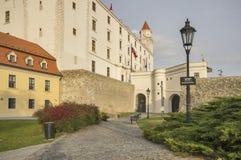 Bratislava podwórze i kasztel obraz royalty free