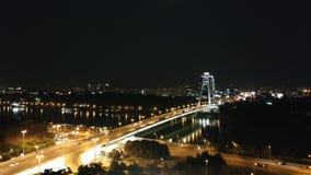Bratislava por noche Imagen de archivo libre de regalías