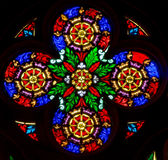Bratislava - Rosette from windowpane on west portal of st. Matins cathedral  from 19. cent. Royalty Free Stock Photo