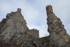 Bratislava, słowak 20 2019 Styczeń: Devin kasztelu ruiny zdjęcia royalty free