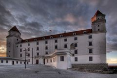 Bratislava-Schloss (Bratislavsky hrad) Stockfoto
