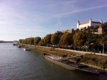 Bratislava-Schloss, Bratislavsky-hrad! stockfotografie