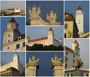 Bratislava-Schloss, Collage Lizenzfreies Stockfoto