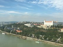 Bratislava-Schlossansicht Slowakei Lizenzfreies Stockfoto