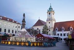 Bratislava - servizio di natale Fotografia Stock