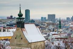 Bratislava Sistani, Styczeń, - 24th, 2016: Widok miasteczko Zdjęcie Stock