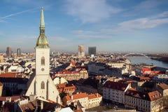 Bratislava skyline Stock Images