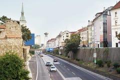 Bratislava skyline Royalty Free Stock Image