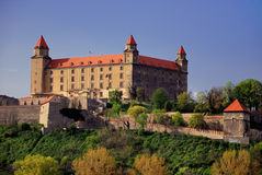 bratislava slott Arkivfoton