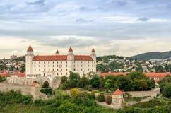 Bratislava slott, Slovakien Arkivfoto