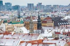 Bratislava, Slovacchia - 24 gennaio 2016: Vista della città Fotografie Stock Libere da Diritti