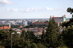 Bratislava Slovakia. Cityscape of Bratislava and city castle royalty free stock image