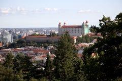 Bratislava Slovakia. Cityscape of Bratislava and city castle stock photos