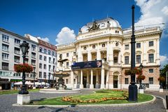 bratislava Slovakia Budynek stary teatr Obrazy Royalty Free