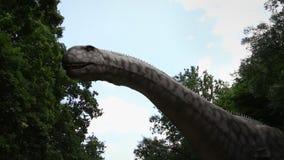BRATISLAVA, SLOVAKIA – CIRCA MAY 2020: Robotic long necked herbivore Brachiosaurus