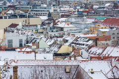 Bratislava, Slovakia - January 24th, 2016: View of the town Stock Images