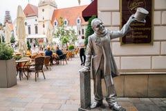 Schone Naci statue in Bratislava, Slovakia