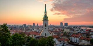 Bratislava, Slovakia landscape at sunrise Stock Images