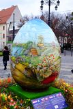 BRATISLAVA, SLOVAKIA, MARCH - 25, 2018: View of a large decorative egg. Easter celebration.  stock image