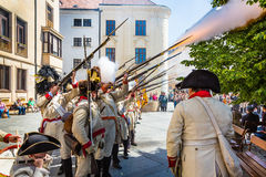 Bratislava, Slovakia - 21 May 2016: A reminder of the siege of N Royalty Free Stock Image