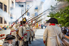 Bratislava, Slovakia - 21 May 2016: A reminder of the siege of N Royalty Free Stock Photography