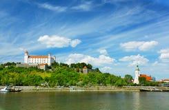 Bratislava, Slovakia. Medieval castle on the hill against the sky, Bratislava, Slovakia Stock Photography