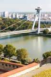 Bratislava, Slovakia. New Bridge in Bratislava, Slovakia Royalty Free Stock Photos