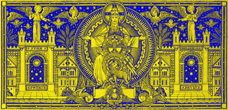 BRATISLAVA, SLOVAKIA, NOVEMBER - 21, 2016: The lithography of Holy Trinity Royalty Free Stock Images